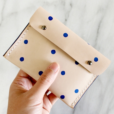 Dotted Leather Pouch by Whimsy Milieu