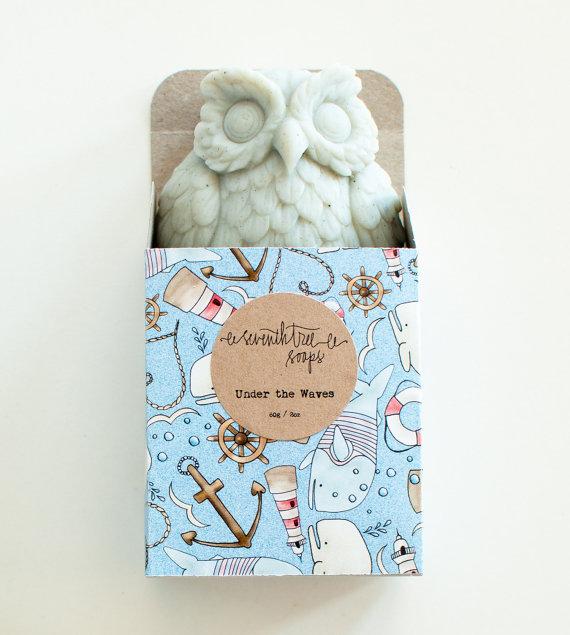 nautical owl soap