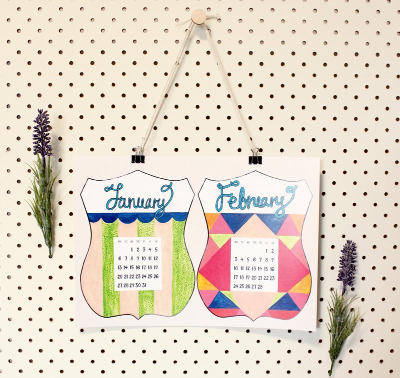 2014 calendar by Whimsy milieu