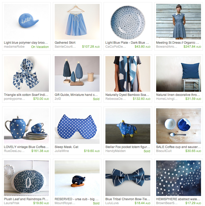 Shades of Blue Etsy Treasury by Whimsy Milieu