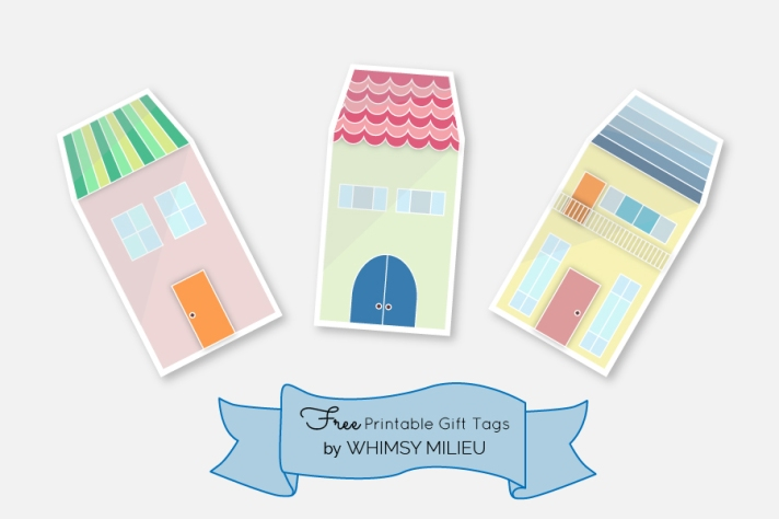 free printable gift tags by Whimsy Milieu