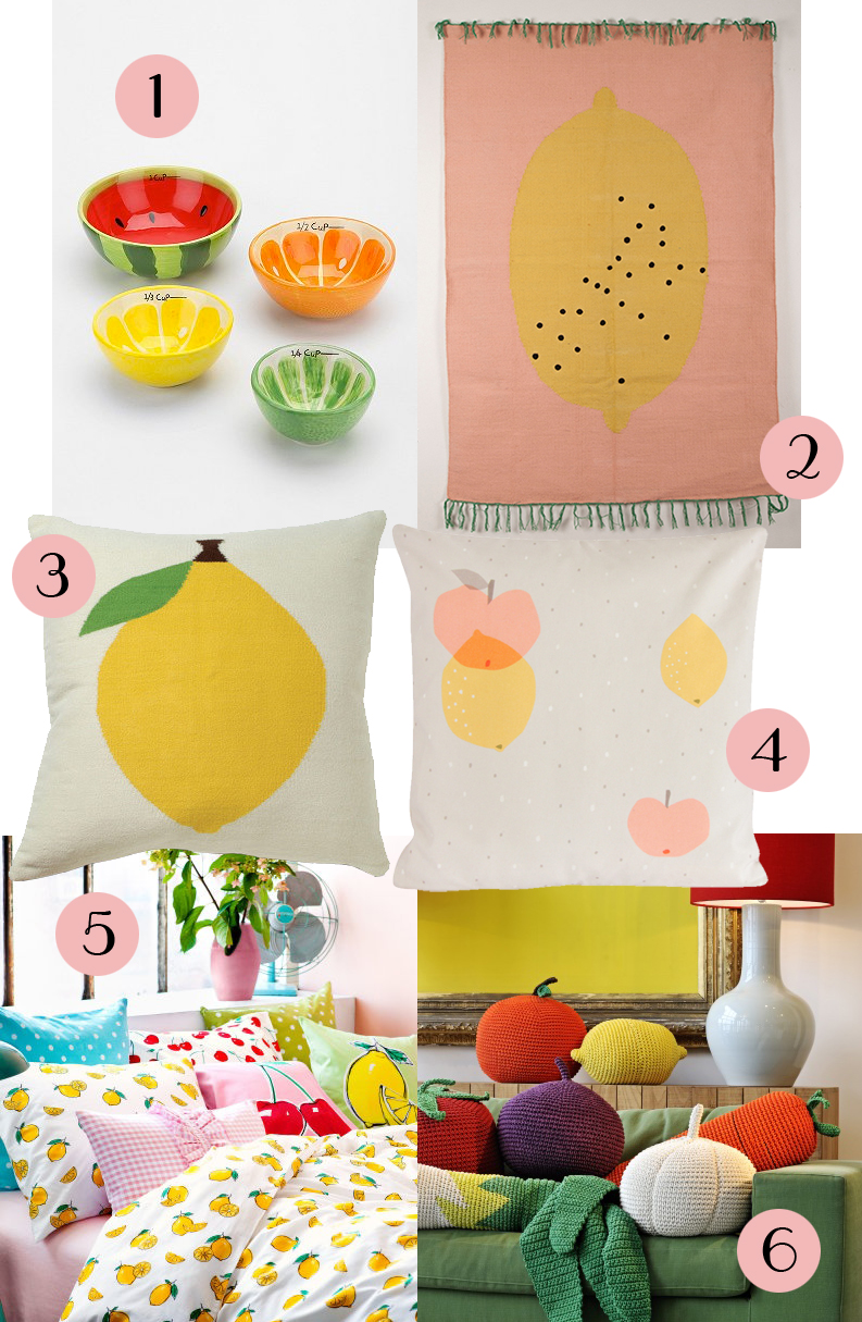 fruity home ware