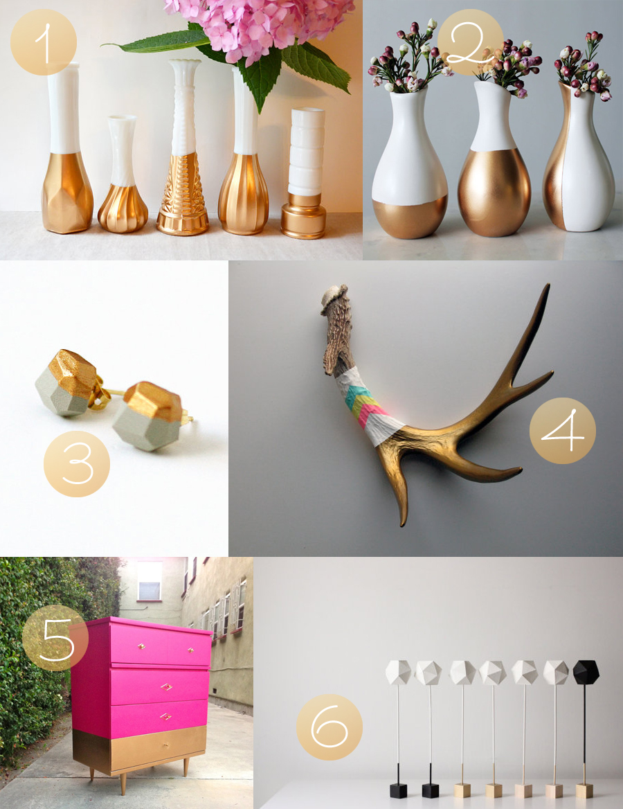 gold dipped goodness curated by Whimsy Milieu