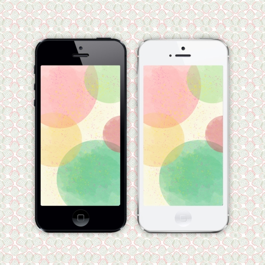 pastel dots iPhone wallpaper by Whimsy Milieu