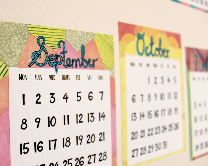 2014 calendar decals by Whimsy Milieu