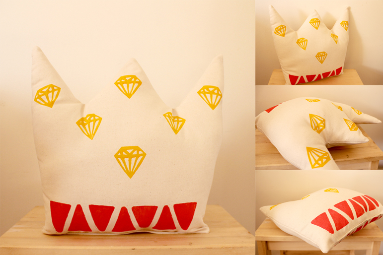 Crown-shaped Cushion by Whimsy Milieu