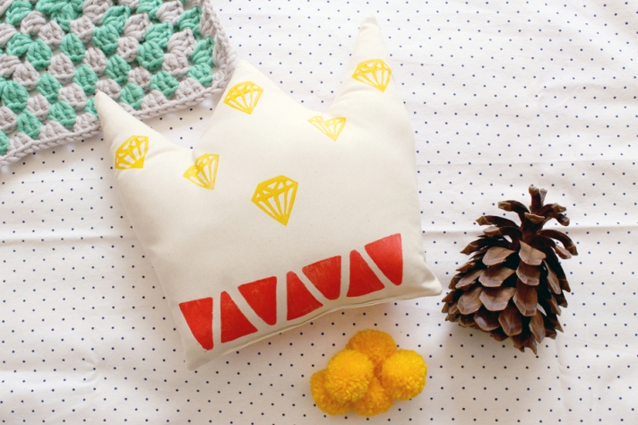 Crown Cushion by Whimsy Milieu
