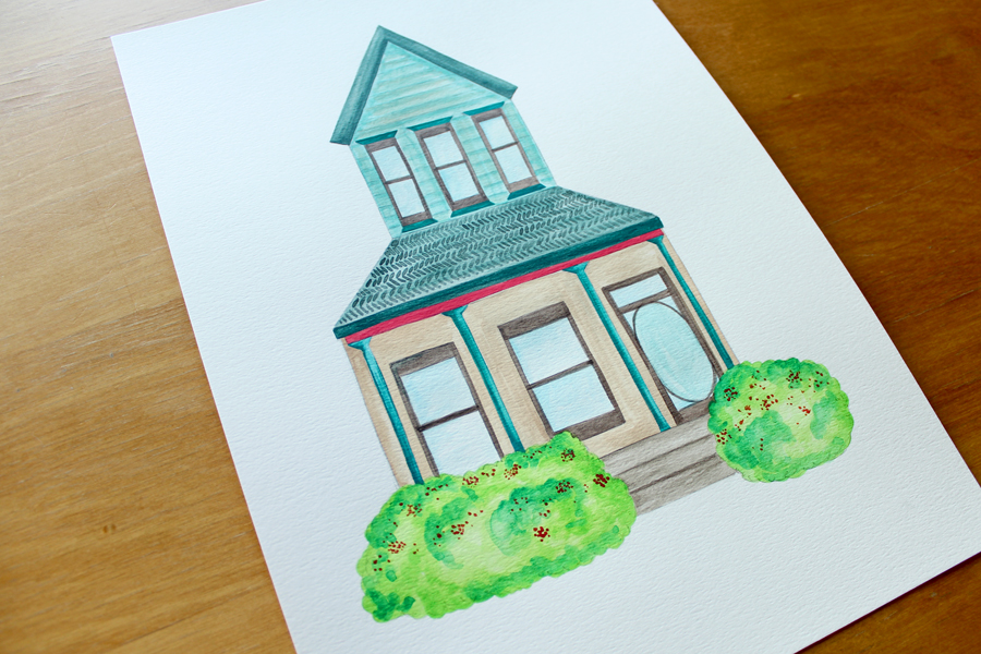 House Portrait by Whimsy Milieu