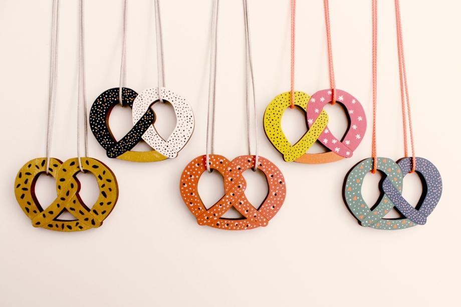 Pretzel Necklaces by Whimsy Milieu