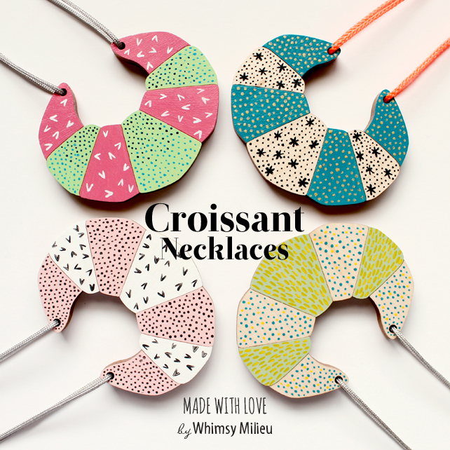 Croissant Necklaces by Whimsy Milieu