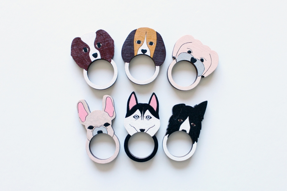 Dog rings by Whimsy Milieu
