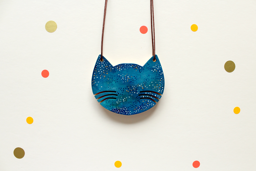 Cat Necklace by Whimsy Milieu