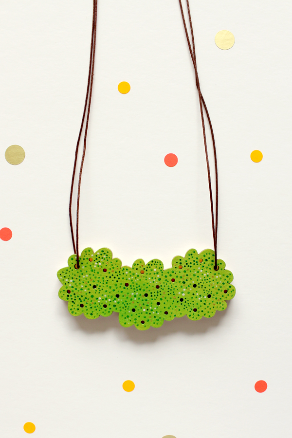 Grass Puff Necklace by Whimsy Milieu